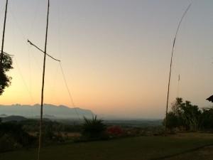 zonopgang met antennes